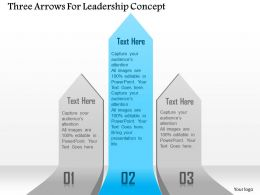 1114 Three Arrows For Leadership Concept Presentation Template