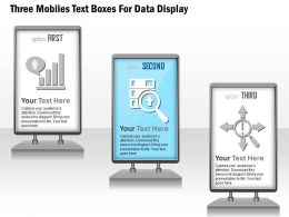 1114 Three Mobiles Text Boxes For Data Display Powerpoint Template