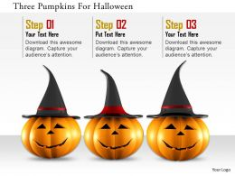 1114 Three Pumpkins For Holloween Image Graphics For Powerpoint