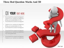 1114 Three Red Question Marks And 3d Ppt Graphics Icons