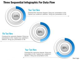 1114 Three Sequential Infographic For Data Flow PowerPoint Template
