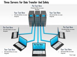 1114 Three Servers For Data Transfer And Safety Image Graphics For Powerpoint