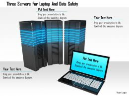 1114 Three Servers For Laptop And Data Safety Image Graphics For Powerpoint