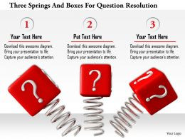 1114 Three Springs And Boxes For Question Resolution Image Graphics For Powerpoint
