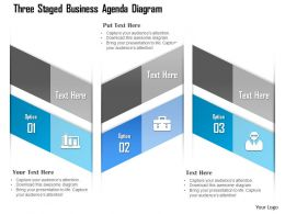 1114 Three Staged Business Agenda Diagram Powerpoint Template