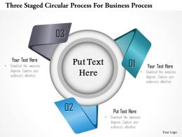 1114 Three Staged Circular Process For Business Process Powerpoint Template