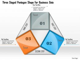 1114 Three Staged Pentagon Shape For Business Data Powerpoint Template