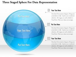 1114 Three Staged Sphere For Data Representation Powerpoint Template