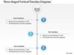 1114 Three Staged Vertical Timeline Diagram Powerpoint Template