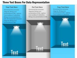 1114 Three Text Boxes For Data Representation Powerpoint Template