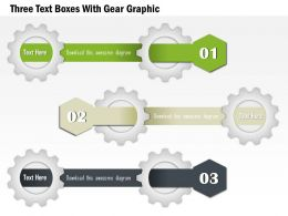 1114 Three Text Boxes With Gear Graphic Powerpoint Template