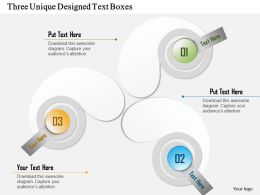 1114 Three Unique Designed Text Boxes Powerpoint Template