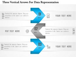 1114 Three Vertical Arrows For Data Representation Powerpoint Template