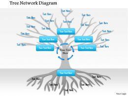 1114 Tree Network Diagram Powerpoint Presentation
