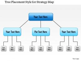 1114 Tree Placement Style For Strategy Map Powerpoint Presentation