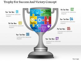 1114 Trophy For Success And Victory Concept Powerpoint Template