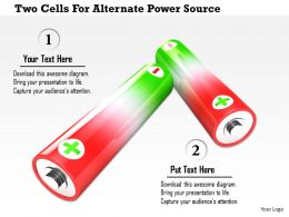 1114 Two Cells For Alternate Power Source Image Graphic For Powerpoint