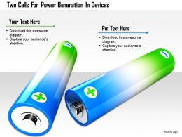 1114 Two Cells For Power Generation In Devices Image Graphic For Powerpoint