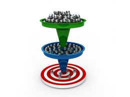 1114 Two Levels Sales Funnel With Target Stock Photo