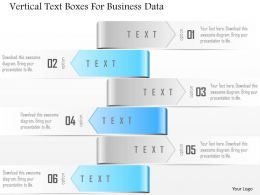 1114 Vertical Text Boxes For Business Data PowerPoint Template