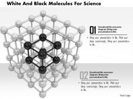 1114 White And Black Molecules For Science Image Graphics For Powerpoint