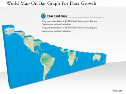 1114 World Map On Bar Graph For Data Growth Image Graphics For Powerpoint
