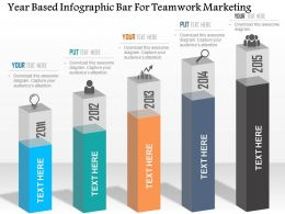 1114 Year Based Infographic Bar For Teamwork Marketing PowerPoint Template