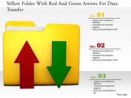 1114 Yellow Folder With Red And Green Arrows For Data Transfer Image Graphics For Powerpoint
