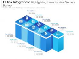 11 Box Infographic Highlighting Ideas For New Venture Startup