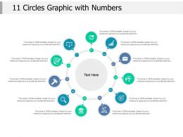 11 Circles Graphic With Numbers