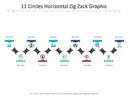 11 Circles Horizontal Zig Zack Graphic