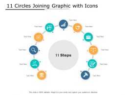 11 Circles Joining Graphic With Icons