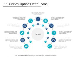 11 Circles Options With Icons