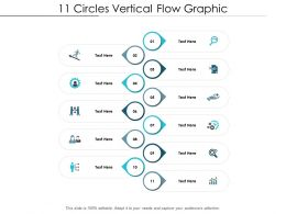 11 Circles Vertical Flow Graphic