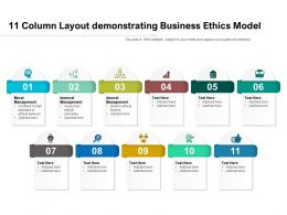 11 Column Layout Demonstrating Business Ethics Model