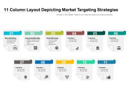 11 Column Layout Depicting Market Targeting Strategies