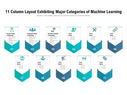 11 Column Layout Exhibiting Major Categories Of Machine Learning