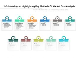 11 Column Layout Highlighting Key Methods Of Market Data Analysis