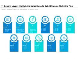11 Column Layout Highlighting Major Steps To Build Strategic Marketing Plan