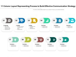 11 Column Layout Representing Process To Build Effective Communication Strategy