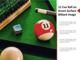 11 Cue Ball On Green Surface Billiard Image