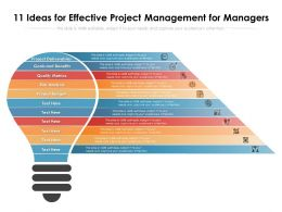 11 Ideas For Effective Project Management For Managers