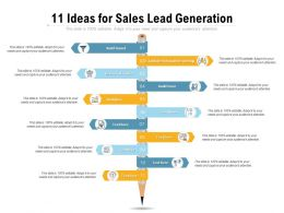 11 Ideas For Sales Lead Generation