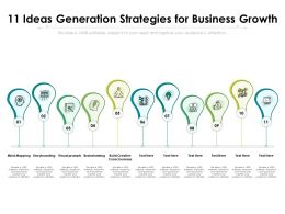 11 Ideas Generation Strategies For Business Growth