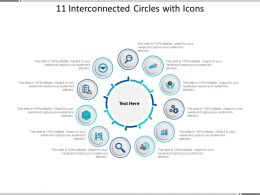 11 Interconnected Circles With Icons