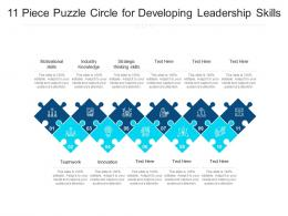 11 Piece Puzzle Circle For Developing Leadership Skills
