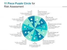 11 Piece Puzzle Circle For Risk Assessment