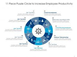 11 Piece Puzzle Circle To Increase Employee Productivity
