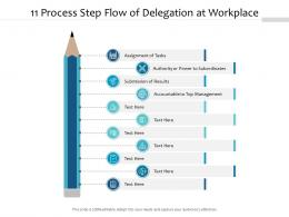 11 Process Step Flow Of Delegation At Workplace
