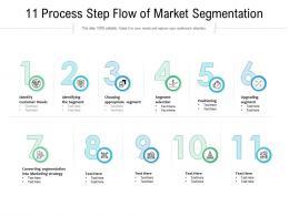 11 Process Step Flow Of Market Segmentation